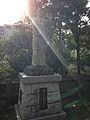 Sculpture of Fukuzawa Yukichi in front of Haraedo Shrine.jpg
