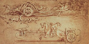 Scythed chariot - Da Vinci's Scythed Chariot