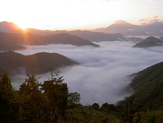 Oudomxay Province - A sea of clouds in Pak Beng, Oudomxay Province