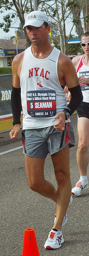 Tim Seaman - Tim Seaman at the 2012 US Olympic Trials 50 km racewalk in Santee, California