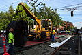 Seattle - laying trolley tracks on Broadway at Pine 05.jpg