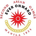 Logo of the 1954 Asian Games