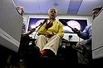 Secretary of Defense Chuck Hagel briefs the press en route to Singapore (2).jpg