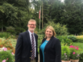 Secretary of State Karen Bradley met the outgoing Consul-General Dan Lawton to update him on the political situation in NI, discuss the special relationship between the two countries and thank him for his service. (42727846574).png
