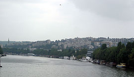 Saint-Cloud above the Seine