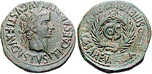 In 31, Sejanus was arrested and condemned to death. The Senate issued damnatio memoriae on him; his statues were destroyed and his name obliterated from all public records. The above coin from Augusta Bilbilis has the words L. Aelio Seiano erased.