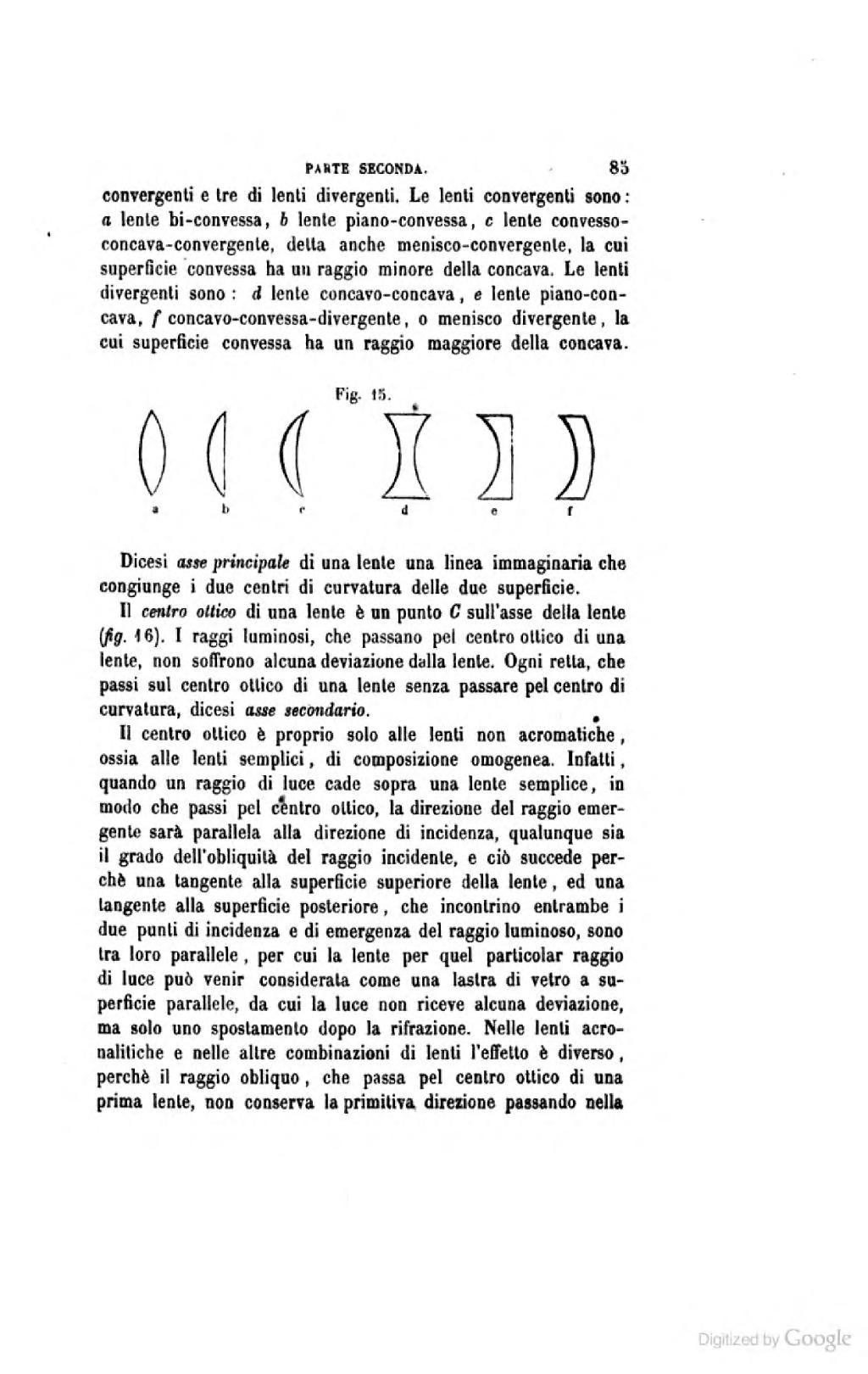a40810456b Nelle lenti aeronautiche e nelle altre combinazioni di lenti l'effetlo è  diverso, perchè il raggio obliquo, che passa pel centro ottico di una prima  lente, ...