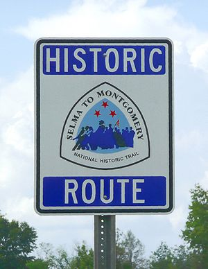 Selma to Montgomery marches - Selma to Montgomery National Historic Trail sign.