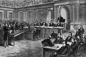 Ulysses S. Grant as commanding general, 1865–1869 - The trial of Andrew Johnson before the Senate