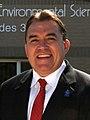 Senator John Hoffman in front of the award winning elementary school he helped create and name as school board member- 2014-07-15 05-17 (cropped).jpg