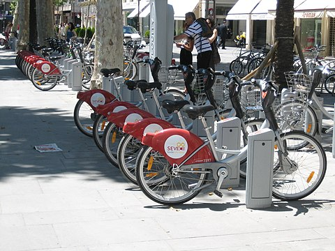Bicycles and Sevici