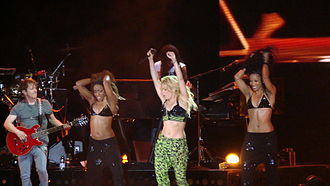 """Loca (Shakira song) - Shakira performing """"Loca"""" in Punta del Este, during The Sun Comes Out World Tour."""