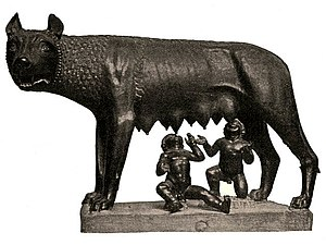 Romulus and Remus - Image: She wolf suckles Romulus and Remus