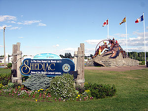 Shediac - Entrance to the town