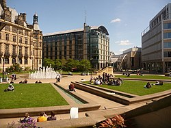 Sheffield, Peace Garden and Millennium Square - geograph.org.uk - 1296384.jpg
