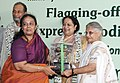 Sheila Dikshit and the Minister of State (Independent Charge) for Environment and Forests, Smt. Jayanthi Natarajan presented the Indira Gandhi Paryavaran Puraskar.jpg