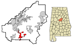 Location in Quận Shelby, Alabama