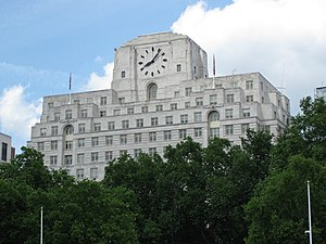 Pearson PLC - 80 Strand (Shell Mex House) in London, the headquarters of Pearson
