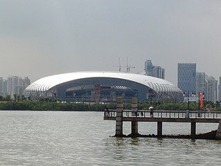 building in Shenzhen Bay Sports Center, China