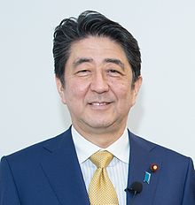 Shinzō Abe at Hudson Institute (cropped 2).jpg
