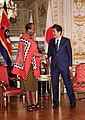 Shinzo Abe and King Mswati III at the Enthronement of Naruhito (2).jpg