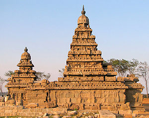 English: Shore Temple, Mahabalipuram, Tamil Na...