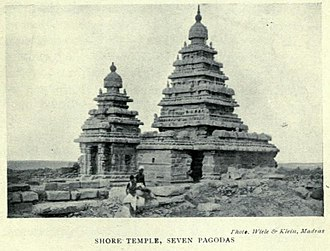Group of Monuments at Mahabalipuram - 1921 photo of the Shore Temple