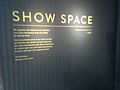 Show Space Gallery sign at Museum of London (Taken 11th February 2016 at Recording A Life Exhibition including film - Our London Lives).jpg