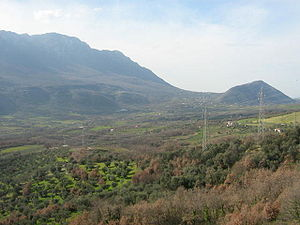 Alburni - The Alburni seen from the Sicignano valley