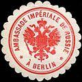 Siegelmarke Ambassade Imperiale de Russie a Berlin W0210779.jpg