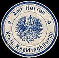 Siegelmarke Amt Herten - Kreis Recklinghausen W0245419.jpg