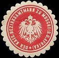 Siegelmarke Der K. Bezirksamtmann zu Moschi Deutsch Ostafrika W0346713.jpg