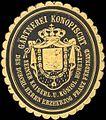 Siegelmarke Gärtnerei Konopischt seiner Kaiserlichen und Königlichen Hoheit des Durchlauchtigen Herrn Erzherzog Franz Ferdinand W0210646.jpg