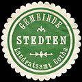 Siegelmarke Gemeinde Stedten - Landratsamt Gotha W0227008.jpg