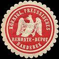 Siegelmarke Köenigl. Preussisches Remonte-Depot Hardebek W0314663.jpg
