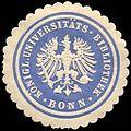 Siegelmarke Königliche Universitäts - Bibliothek - Bonn W0216436.jpg