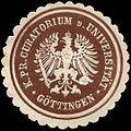 Siegelmarke K. Pr. Curatorium der Universität Göttingen W0297066.jpg
