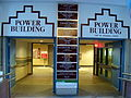 Signage for the Power Building from the Winnipeg Walkway system connection to The Bay.JPG