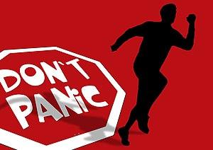 Communication apprehension - Don't Panic Silhouette