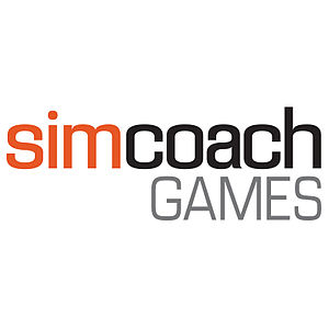 Simcoach Games - This is the logo that Simcoach Games adopted after it changed its name in 2014.