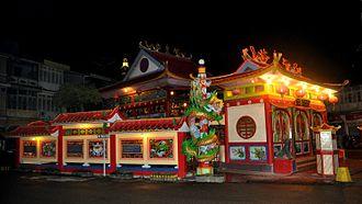Singkawang - One of the main temples in Singkawang, named as Tri Dharma Bumi Raya temple (福德祠)