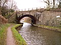 Skew railway bridge over Monmouth and Brecon canal - geograph.org.uk - 108195.jpg