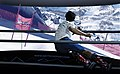 Skiing a Giant Slalom course on SkyTechSport Ski Simulator with Panorama Screen.jpg