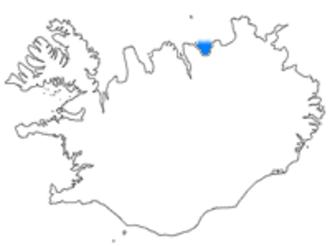 Skjálfandi - Location of Skjálfandi in Iceland