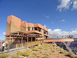 Grand Canyon Skywalk - Closer view of the entrance building to skywalk