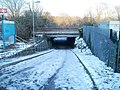 Slippery route to Radyr railway station, Cardiff - geograph.org.uk - 2179912.jpg