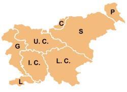 Eslovenia se ha dividido tradicionalmente en ocho regiones.