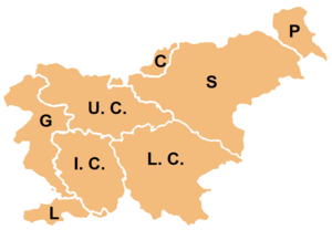Geography of Slovenia - Slovenia is traditionally divided into eight regions.