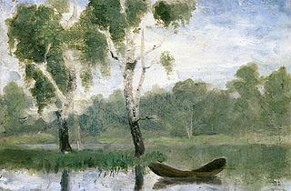 Petit Lac avec bateau