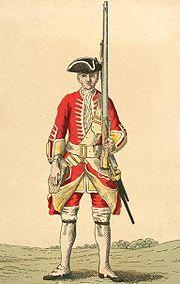 Soldier of 20th regiment 1742